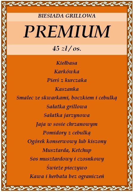 Biesiada grillowa premium