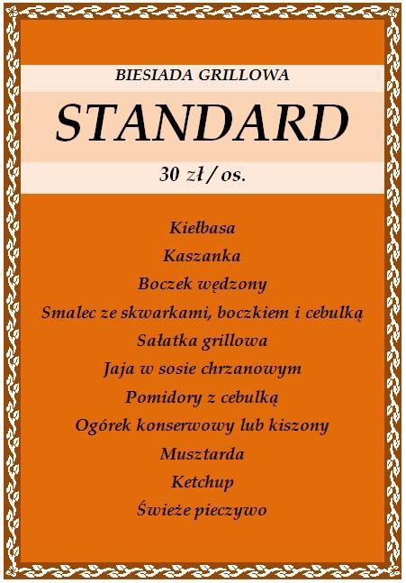 Biesiada grillowa standard