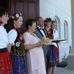 Powitanie Państwa Młodych Dwór Maria Antonina