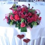 Bukiet na stole weselnym