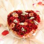 Serce z kwiatów zaręczyny